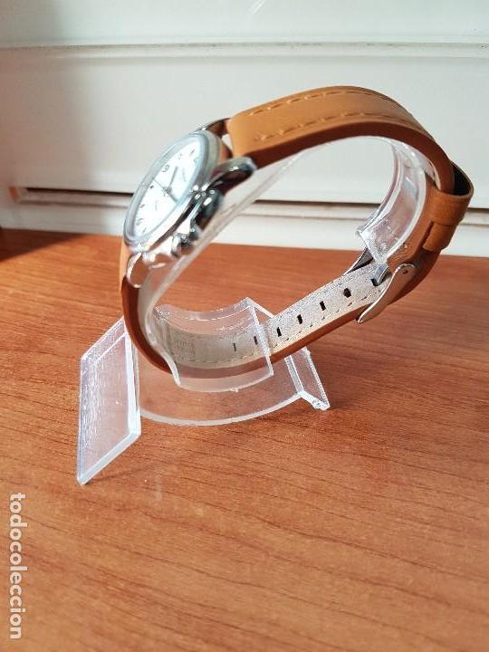 Relojes - Tissot: Reloj señora Tissot 1853 en acero con calendario a las tres, correa de cuero marrón nueva sin uso - Foto 7 - 105748611