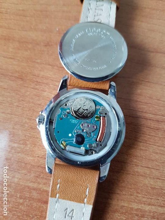 Relojes - Tissot: Reloj señora Tissot 1853 en acero con calendario a las tres, correa de cuero marrón nueva sin uso - Foto 10 - 105748611