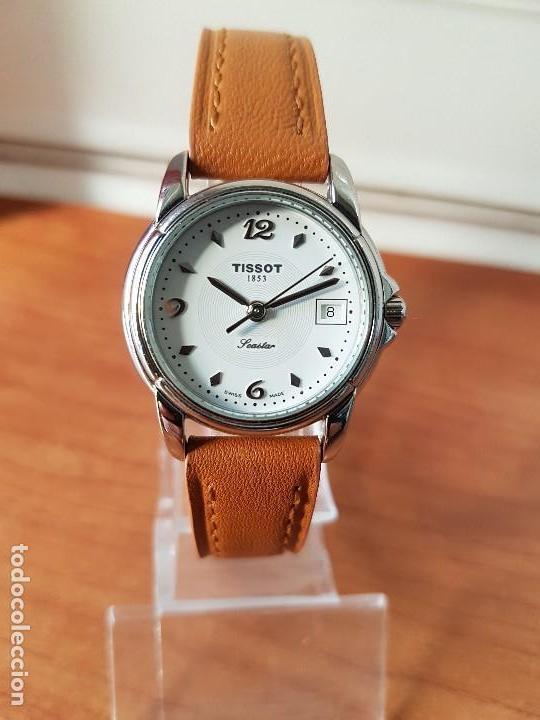 Relojes - Tissot: Reloj señora Tissot 1853 en acero con calendario a las tres, correa de cuero marrón nueva sin uso - Foto 11 - 105748611