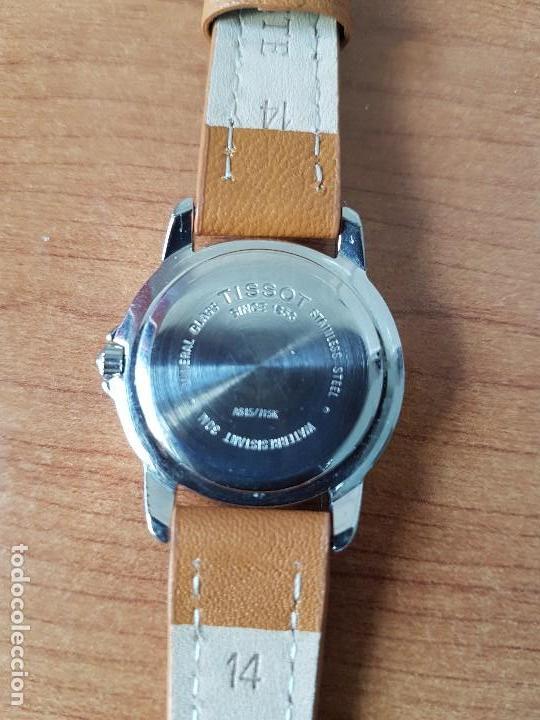 Relojes - Tissot: Reloj señora Tissot 1853 en acero con calendario a las tres, correa de cuero marrón nueva sin uso - Foto 12 - 105748611