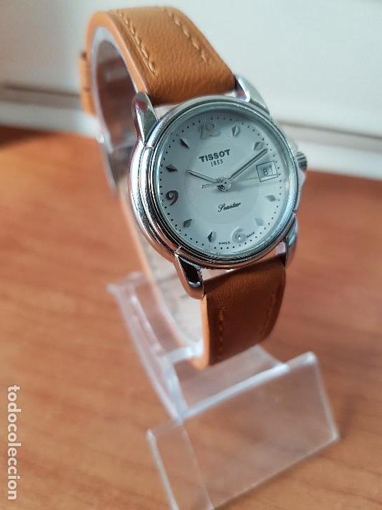 Relojes - Tissot: Reloj señora Tissot 1853 en acero con calendario a las tres, correa de cuero marrón nueva sin uso - Foto 13 - 105748611