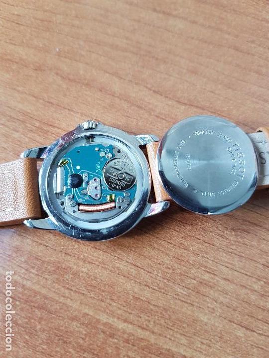Relojes - Tissot: Reloj señora Tissot 1853 en acero con calendario a las tres, correa de cuero marrón nueva sin uso - Foto 17 - 105748611
