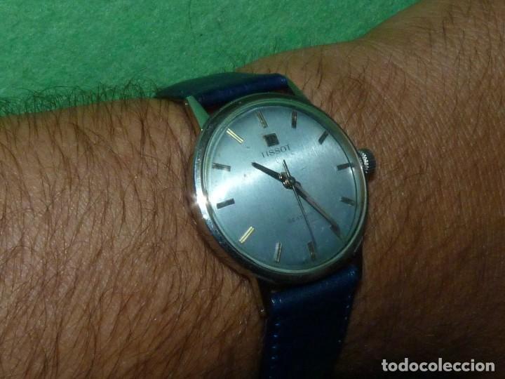 ELEGANTE RELOJ TISSOT SEASTAR CARGA MANUAL CALIBRE 781 RARISIMA ESFERA AZUL VINTAGE AÑOS 60 (Relojes - Relojes Actuales - Tissot)