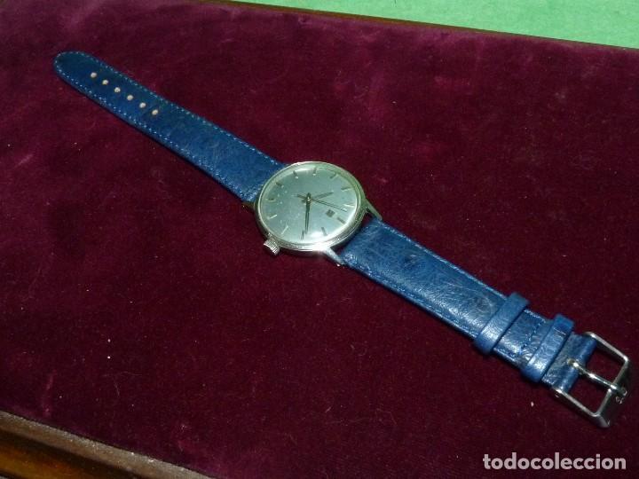 Relojes - Tissot: Elegante reloj Tissot Seastar carga manual CALIBRE 781 rarisima esfera azul vintage años 60 - Foto 2 - 122623315