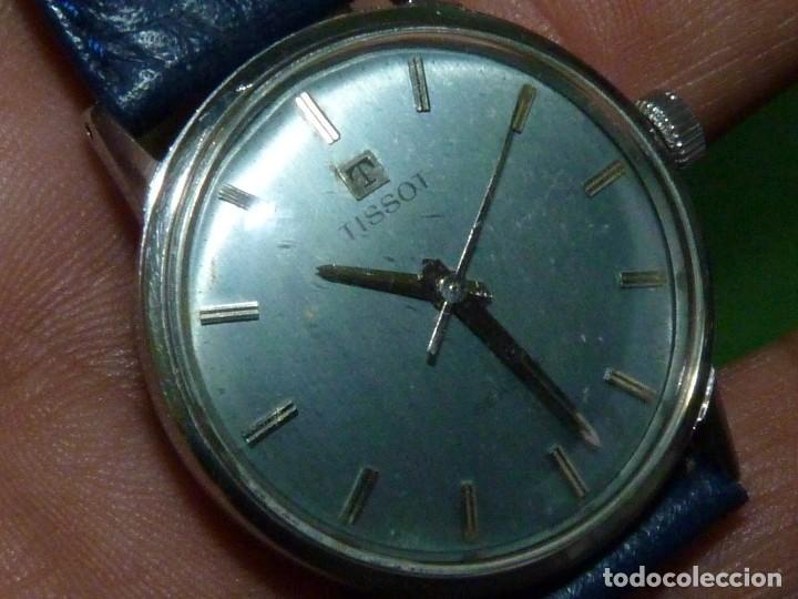 Relojes - Tissot: Elegante reloj Tissot Seastar carga manual CALIBRE 781 rarisima esfera azul vintage años 60 - Foto 4 - 122623315