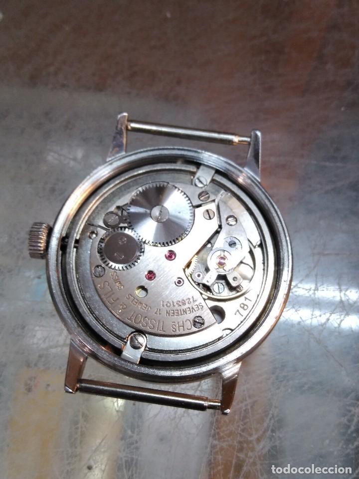 Relojes - Tissot: Elegante reloj Tissot Seastar carga manual CALIBRE 781 rarisima esfera azul vintage años 60 - Foto 6 - 122623315