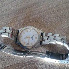 Relojes - Tissot: RELOGIO TISSO COM CALENDARIO MAD SUIZA QUARTZ SLEADO TISSO1853 SAFIRE CRISTAL Q KK-JA 23904. Lote 130698454