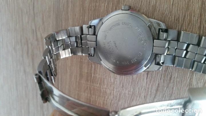 Relojes - Tissot: RELOGIO TISSO COM CALENDARIO MAD SUIZA QUARTZ SLEADO TISSO1853 SAFIRE CRISTAL Q KK-JA 23904 - Foto 3 - 130698454
