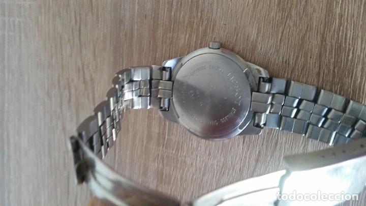 Relojes - Tissot: RELOGIO TISSO COM CALENDARIO MAD SUIZA QUARTZ SLEADO TISSO1853 SAFIRE CRISTAL Q KK-JA 23904 - Foto 4 - 130698454