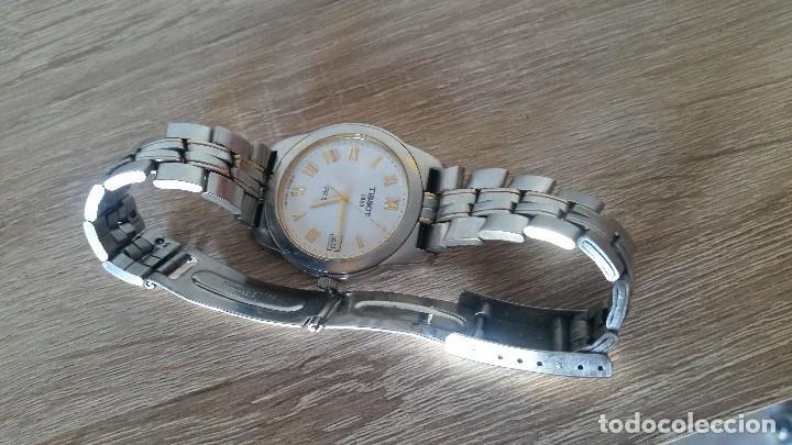 Relojes - Tissot: RELOGIO TISSO COM CALENDARIO MAD SUIZA QUARTZ SLEADO TISSO1853 SAFIRE CRISTAL Q KK-JA 23904 - Foto 7 - 130698454