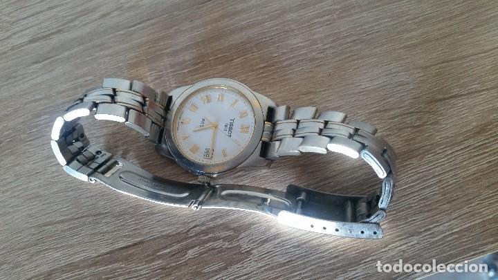 Relojes - Tissot: RELOGIO TISSO COM CALENDARIO MAD SUIZA QUARTZ SLEADO TISSO1853 SAFIRE CRISTAL Q KK-JA 23904 - Foto 9 - 130698454