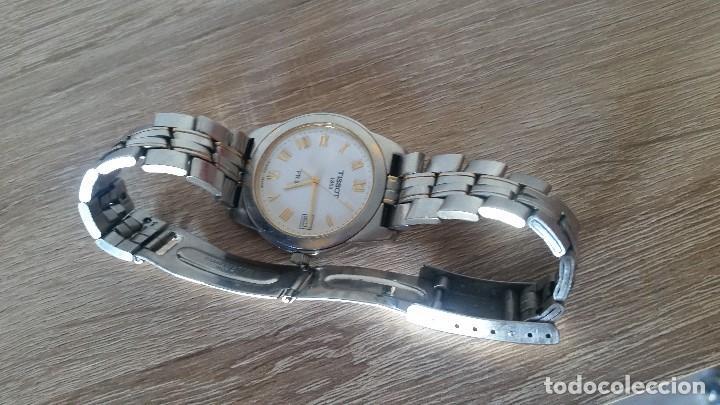 Relojes - Tissot: RELOGIO TISSO COM CALENDARIO MAD SUIZA QUARTZ SLEADO TISSO1853 SAFIRE CRISTAL Q KK-JA 23904 - Foto 12 - 130698454