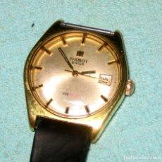 Relojes - Tissot: RELOJ TISSOT. CABALLERO VINTAGE PLAQUE ORO 20 MICRAS. 37MM NO FUNCIONA. Lote 143105278