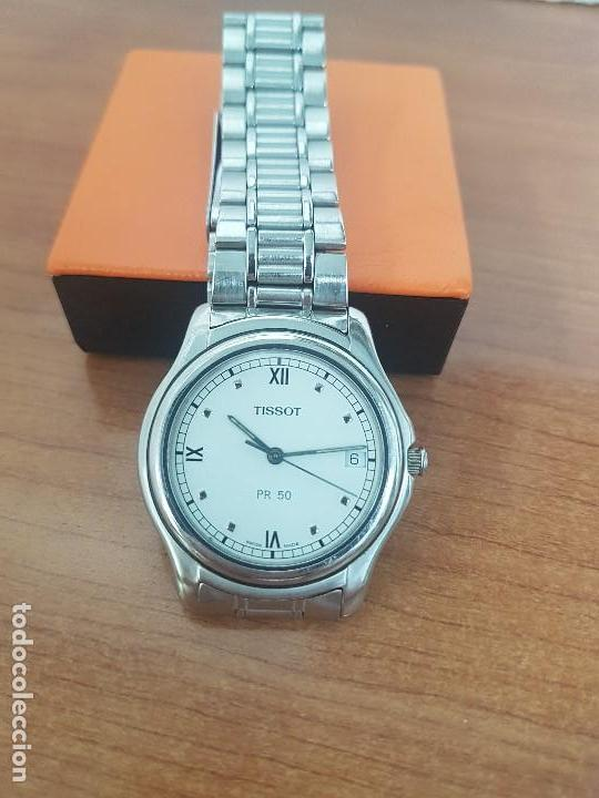 Relojes - Tissot: Reloj caballero Tissot de cuarzo Suizo acero, calendario a las tres, correa de acero original Tissot - Foto 10 - 173448564