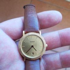Relojes - Tissot: RELOJ DE MUJER TISSOT DE ORO DE 18K CON CORREA ORIGINAL.. Lote 146540062