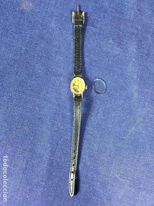 Relojes - Tissot: reloj original tissot suizo modelo saphir señora dorado correa de piel años 50 - Foto 4 - 149437778