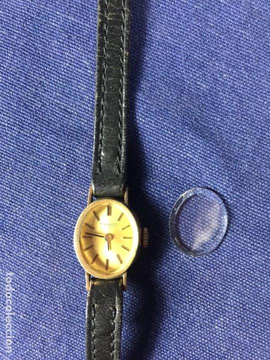 Relojes - Tissot: reloj original tissot suizo modelo saphir señora dorado correa de piel años 50 - Foto 6 - 149437778