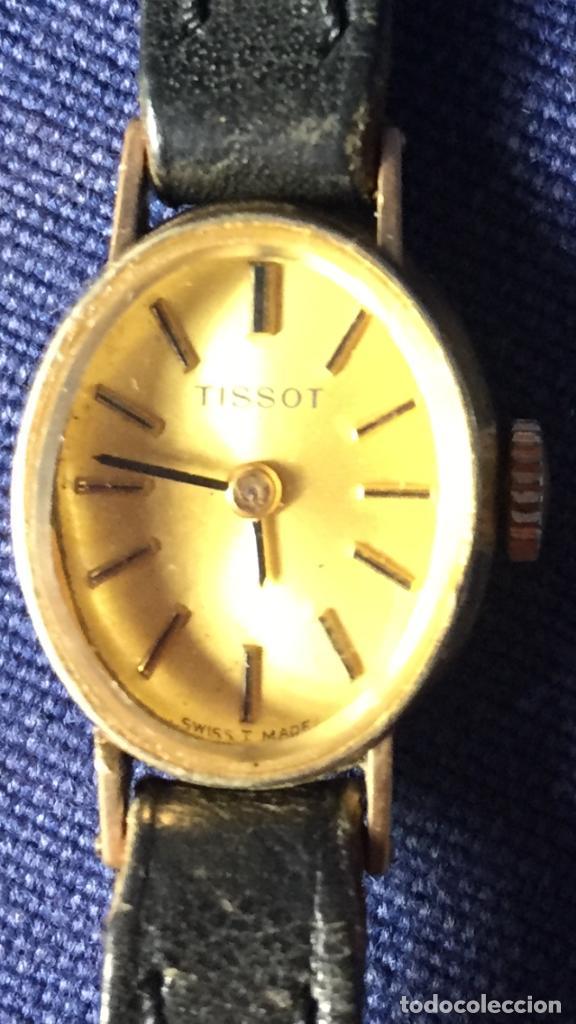 Relojes - Tissot: reloj original tissot suizo modelo saphir señora dorado correa de piel años 50 - Foto 7 - 149437778