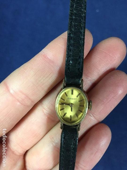 Relojes - Tissot: reloj original tissot suizo modelo saphir señora dorado correa de piel años 50 - Foto 9 - 149437778