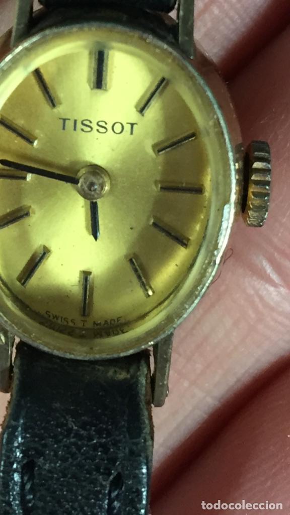 RELOJ ORIGINAL TISSOT SUIZO MODELO SAPHIR SEÑORA DORADO CORREA DE PIEL AÑOS 50 (Relojes - Relojes Actuales - Tissot)