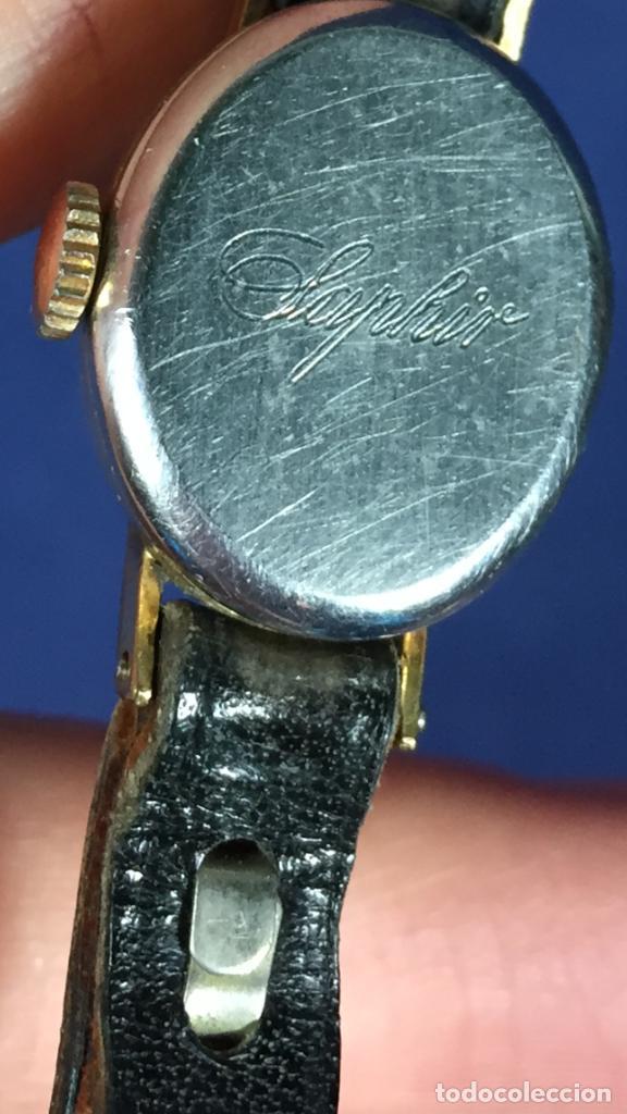 Relojes - Tissot: reloj original tissot suizo modelo saphir señora dorado correa de piel años 50 - Foto 22 - 149437778