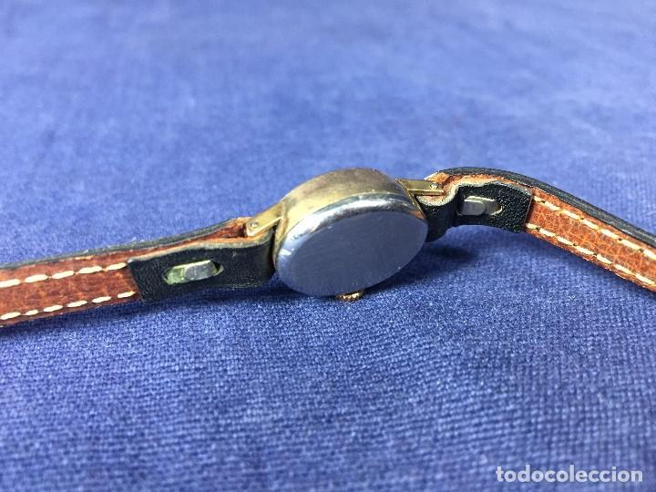 Relojes - Tissot: reloj original tissot suizo modelo saphir señora dorado correa de piel años 50 - Foto 2 - 149437778