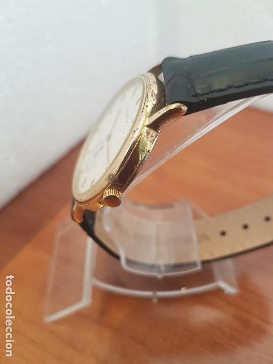 Relojes - Tissot: Reloj caballero (Vintage) TISSOT Suizo de cuarzo en acero, segundero a las seis horas, correa cuero - Foto 4 - 154677678