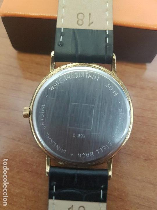 Relojes - Tissot: Reloj caballero (Vintage) TISSOT Suizo de cuarzo en acero, segundero a las seis horas, correa cuero - Foto 11 - 154677678