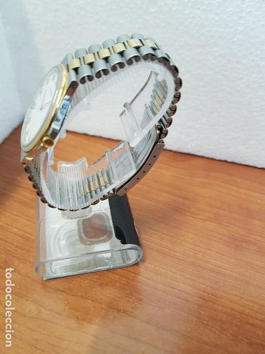 Relojes - Tissot: Reloj caballero (Vintage) TISSOT Suizo de cuarzo en acero y oro, calendario a las tres horas - Foto 4 - 154613422