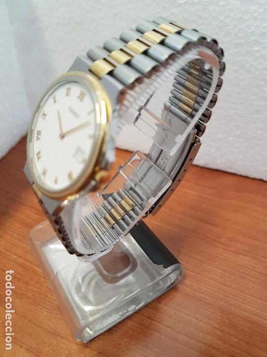 Relojes - Tissot: Reloj caballero (Vintage) TISSOT Suizo de cuarzo en acero y oro, calendario a las tres horas - Foto 5 - 154613422
