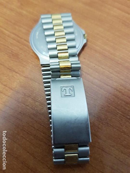 Relojes - Tissot: Reloj caballero (Vintage) TISSOT Suizo de cuarzo en acero y oro, calendario a las tres horas - Foto 9 - 154613422