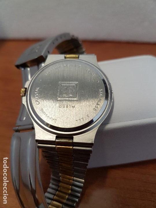Relojes - Tissot: Reloj caballero (Vintage) TISSOT Suizo de cuarzo en acero y oro, calendario a las tres horas - Foto 14 - 154613422