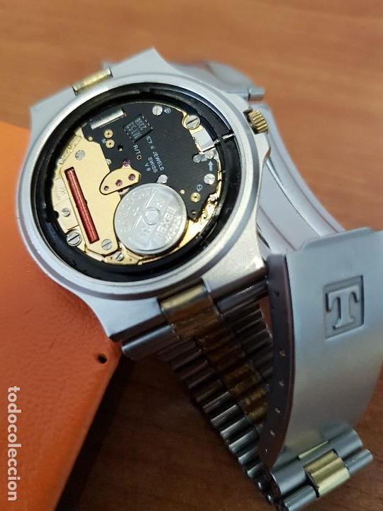 Relojes - Tissot: Reloj caballero (Vintage) TISSOT Suizo de cuarzo en acero y oro, calendario a las tres horas - Foto 15 - 154613422