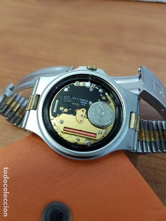 Relojes - Tissot: Reloj caballero (Vintage) TISSOT Suizo de cuarzo en acero y oro, calendario a las tres horas - Foto 17 - 154613422