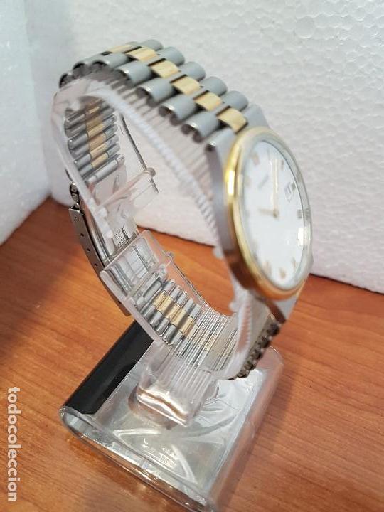 Relojes - Tissot: Reloj caballero (Vintage) TISSOT Suizo de cuarzo en acero y oro, calendario a las tres horas - Foto 18 - 154613422