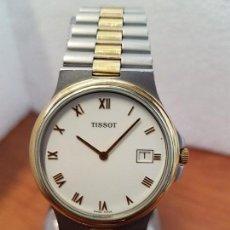 Relojes - Tissot: RELOJ CABALLERO (VINTAGE) TISSOT SUIZO DE CUARZO EN ACERO Y ORO, CALENDARIO A LAS TRES HORAS. Lote 154613422