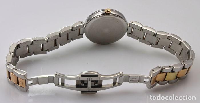 Relojes - Tissot: Bulowa: lujoso reloj de señora, 98S147, con 8 diamantes reales en los marcadores. Acero y oro rosa. - Foto 7 - 159416814