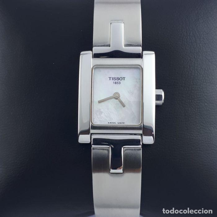 Relojes - Tissot: Reloj Tissot Mother Of Pearl para mujer, modelo L950, 2010, perfecto estado. Caja de reloj. - Foto 3 - 160320726