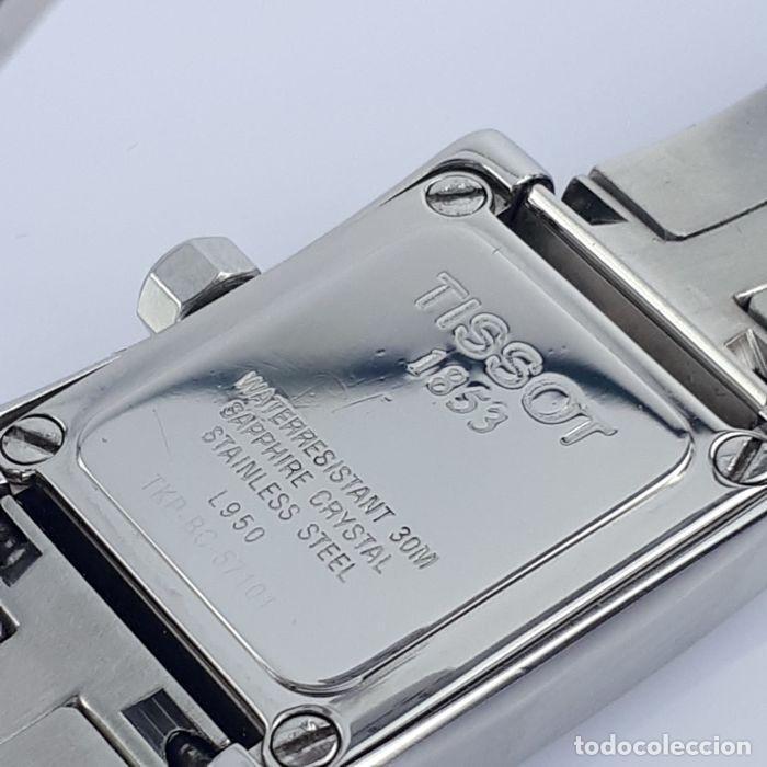 Relojes - Tissot: Reloj Tissot Mother Of Pearl para mujer, modelo L950, 2010, perfecto estado. Caja de reloj. - Foto 7 - 160320726