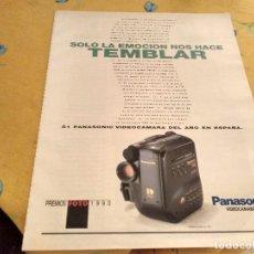 Relojes - Tissot: ANTIGUO ANUNCIO PUBLICIDAD REVISTA 4 PAGINAS VIDEOCAMARA PANASONIC S - 1 PATROCINADOR EXPO 92. Lote 170434172