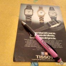 Relojes - Tissot: ANTIGUO ANUNCIO PUBLICIDAD REVISTA HOJA RELOJ TISSOT ESPECIAL PARA ENMARCAR. Lote 171327353