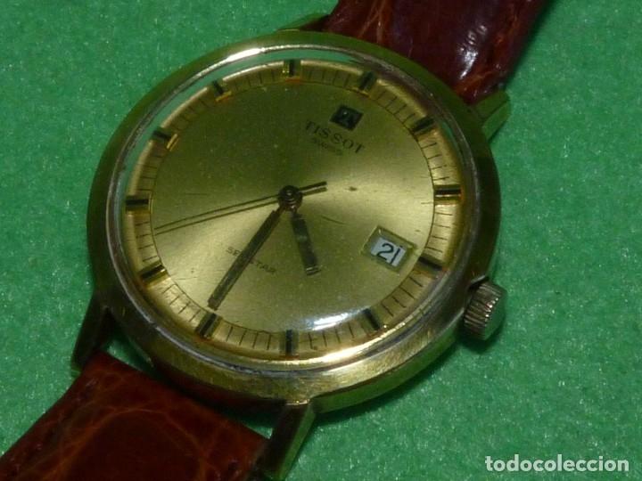 Relojes - Tissot: Bonito reloj Tissot Seastar carga manual CALIBRE 2461 rara esfera dorada vintage años 70 - Foto 2 - 173316925