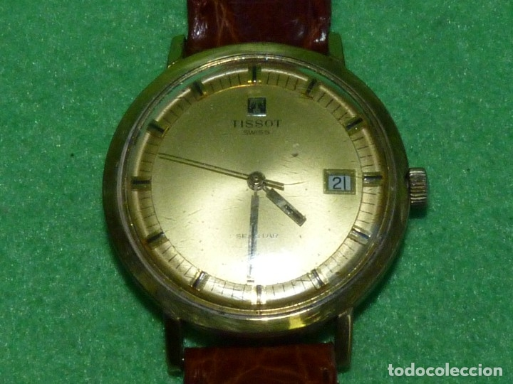 Relojes - Tissot: Bonito reloj Tissot Seastar carga manual CALIBRE 2461 rara esfera dorada vintage años 70 - Foto 3 - 173316925