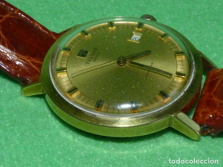 Relojes - Tissot: Bonito reloj Tissot Seastar carga manual CALIBRE 2461 rara esfera dorada vintage años 70 - Foto 4 - 173316925