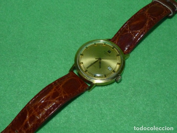 Relojes - Tissot: Bonito reloj Tissot Seastar carga manual CALIBRE 2461 rara esfera dorada vintage años 70 - Foto 6 - 173316925