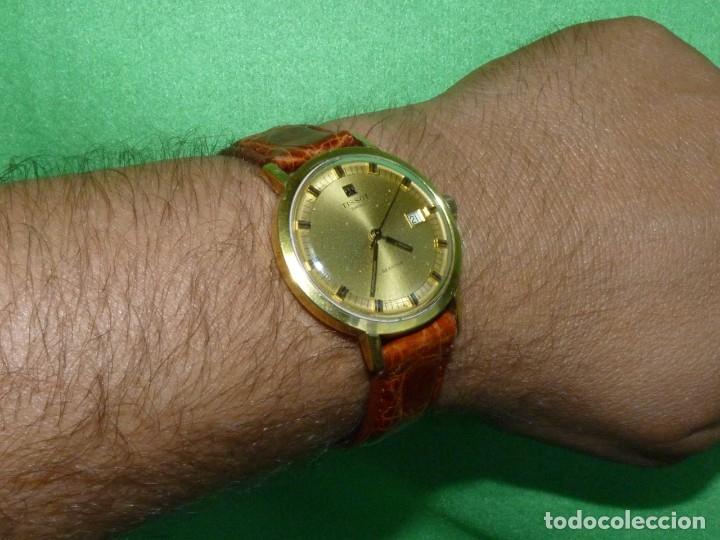 Relojes - Tissot: Bonito reloj Tissot Seastar carga manual CALIBRE 2461 rara esfera dorada vintage años 70 - Foto 11 - 173316925