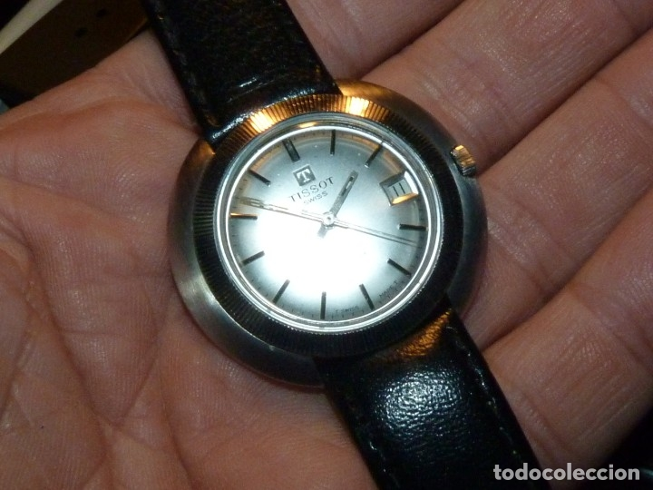 Relojes - Tissot: Espectacular reloj Tissot Seastar caja monobloque raro space age años 60 carga manual todo acero - Foto 2 - 183334700