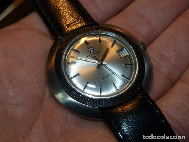 Relojes - Tissot: Espectacular reloj Tissot Seastar caja monobloque raro space age años 60 carga manual todo acero - Foto 4 - 183334700