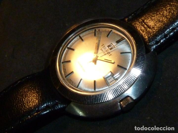 Relojes - Tissot: Espectacular reloj Tissot Seastar caja monobloque raro space age años 60 carga manual todo acero - Foto 5 - 183334700