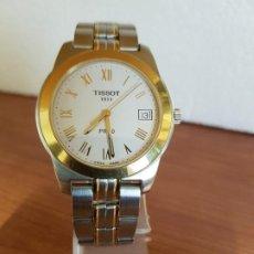 Relojes - Tissot: RELOJ CABALLERO TISSOT 1853 DE ACERO BICOLOR CON CALENDARIO, ESFERA BLANCA, CORREA ORIGINAL TISSOT. Lote 190998008